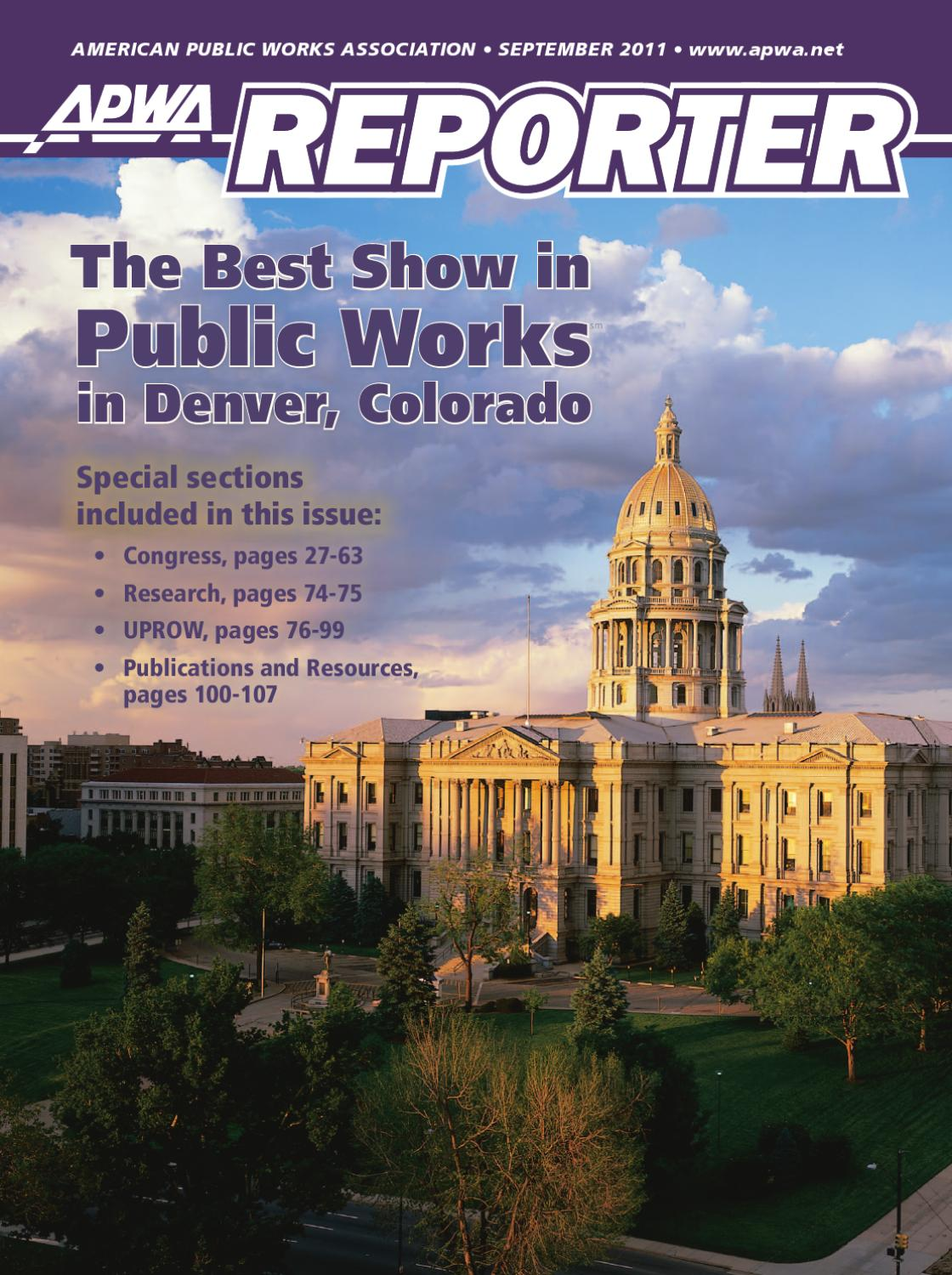 Apwa reporter september 2011 issue by american public works apwa reporter september 2011 issue by american public works association issuu fandeluxe Choice Image
