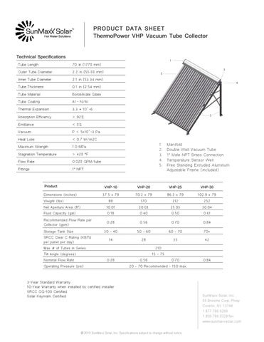 ThermoPower VHP data sheet by SunMaxx Solar - issuu
