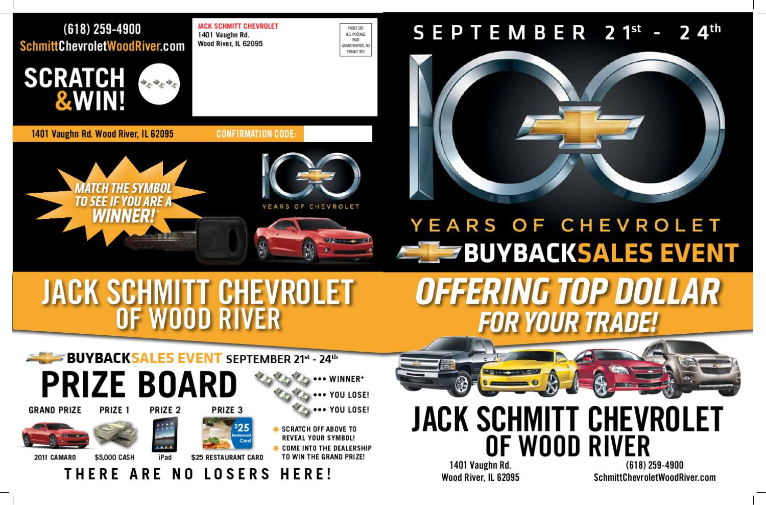 Jack Schmitt Chevrolet Wood River Il >> 100 Years By Christopher Sepulveda Issuu