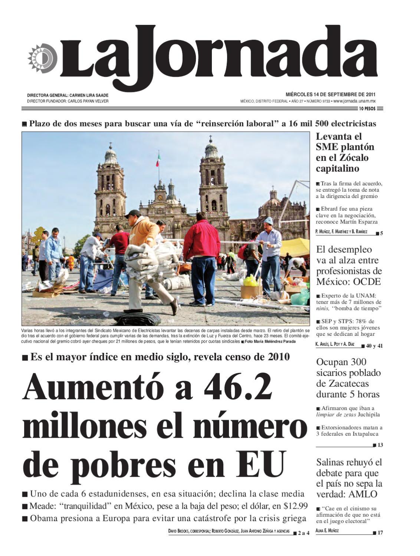 La Jornada, 09/14/2011 by La Jornada: DEMOS Desarrollo de Medios SA ...