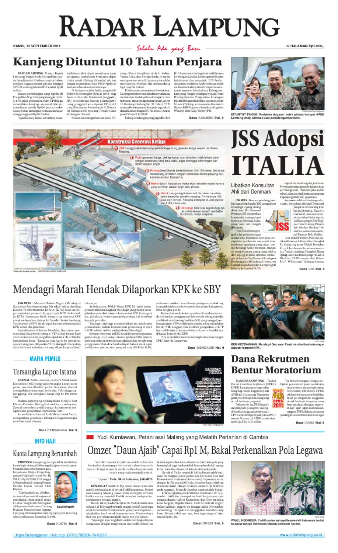 Radar Lampung Kamis 15 September 2011 By Ayep Kancee Issuu Produk Ukm Bumn Jamu Kunyit Asam Seger Waras
