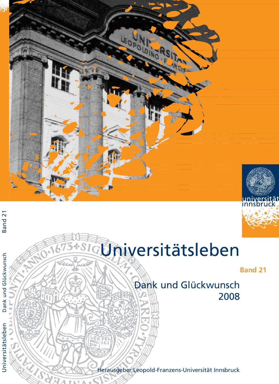 Dank und Glückwunsch 2008 - Universitätsleben Band 21 by Universität ...