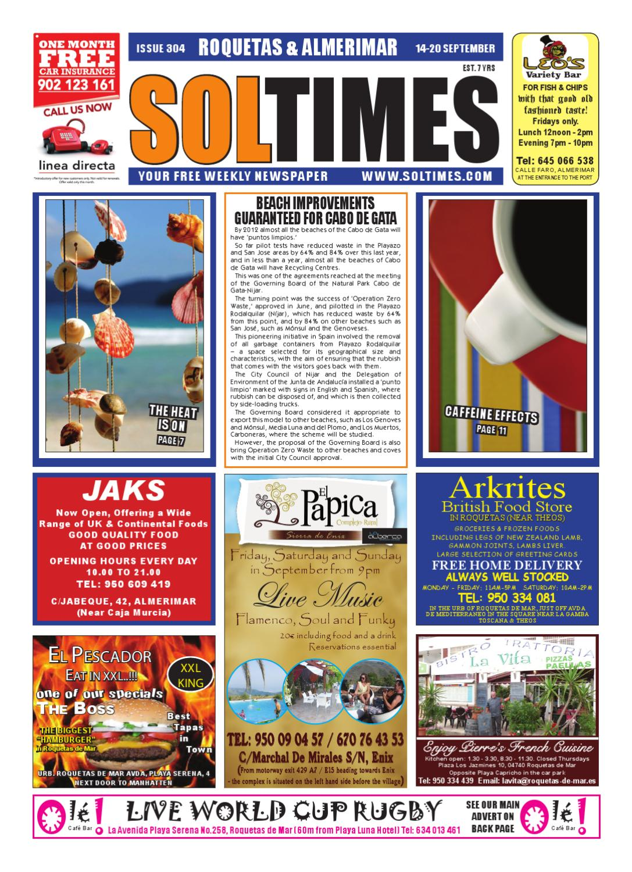 955d9322b22f3 Sol Times Newspaper issue 304 Roquetas Edition by nigel judson - issuu
