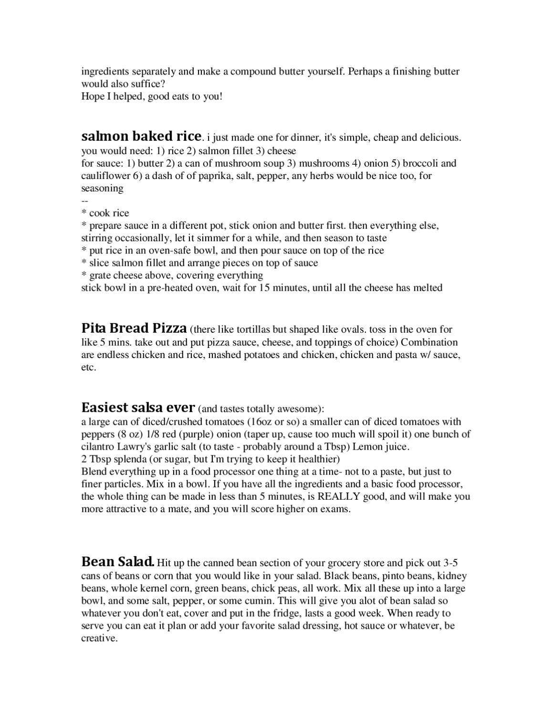 Cheap College Food - Reddit by Malcolm Burt - issuu
