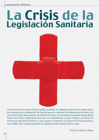 Page 30 of LA CRISIS DE LA LEGISLACION SANITARIA.