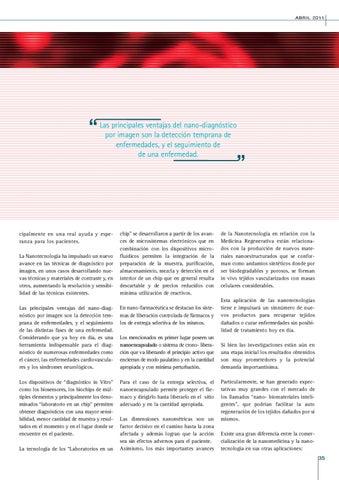 Page 35 of NANOTECNOLOGÍA Y NANO-MEDICINA.