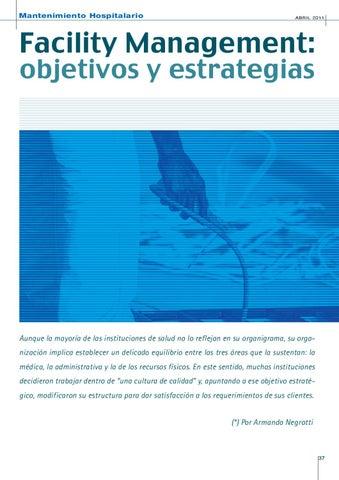 Page 37 of FACILITY MANAGEMENT: OBJETIVOS Y ESTRATEGIAS.