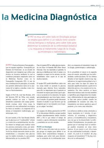 Page 7 of EL PET Y SU APLICACIÓN EN LA MEDICINA DIAGNÓSTICA