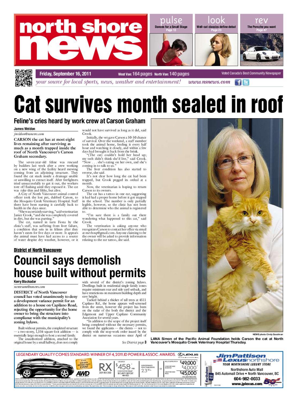 North Shore News September 15 2011 by Glacier Digital - issuu