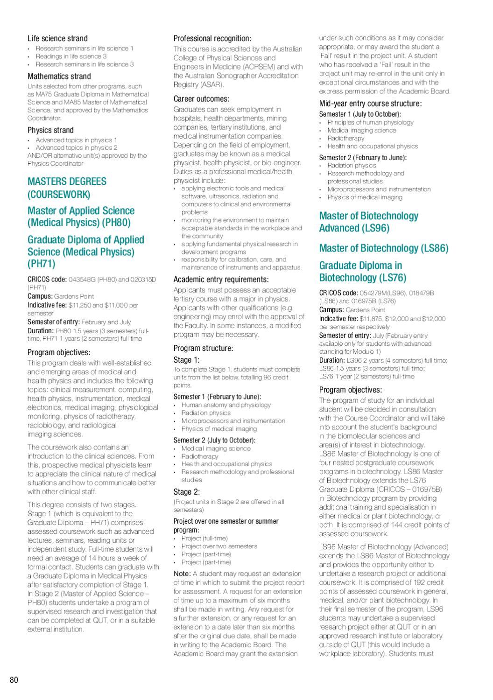 QUT Postgraduate Prospectus 2011 by mj education - issuu