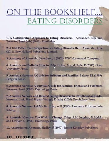 The Voice News And Support Magazine For Eating Disorders By Talking