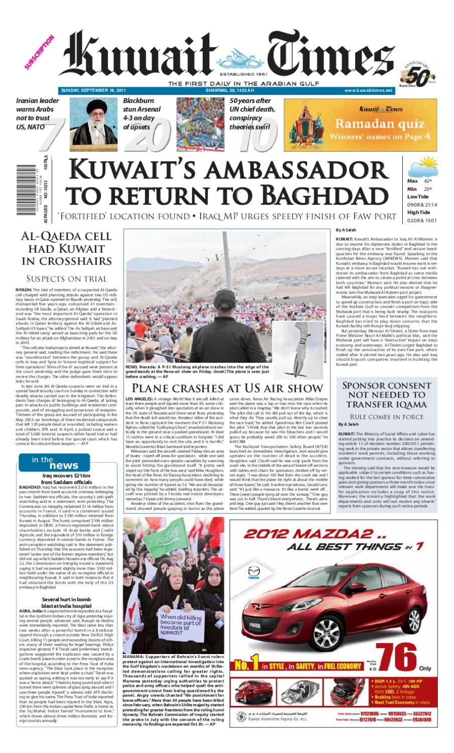 18 Sep By Kuwait Times Issuu