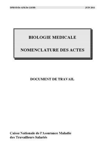 Nomenclature des actes de biologie m dicale by nicolas le - Table nationale de codage de biologie ...