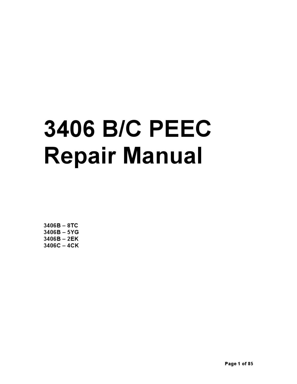 cat 3406e peec manual by ariel sanchez issuu