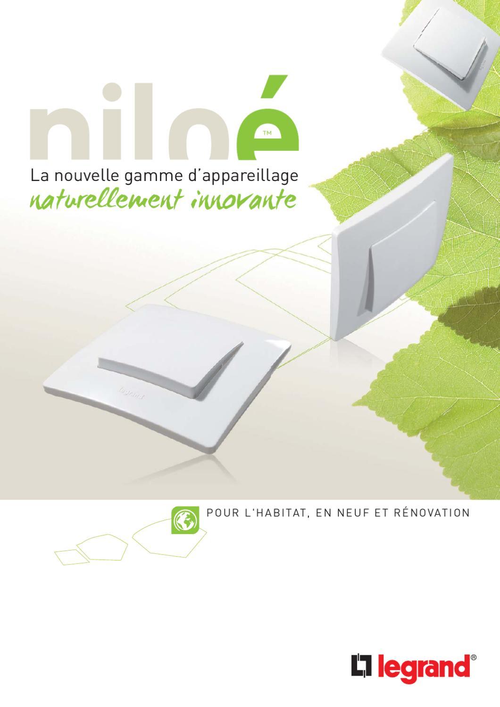 Legrand Prise de courant composable affleurante 2P+T Niloe Argent