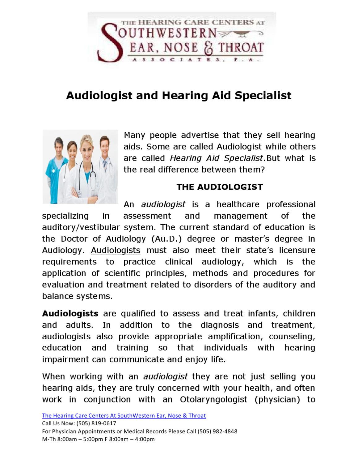 Audiologist And Hearing Aid Specialist By Diane Kean Issuu