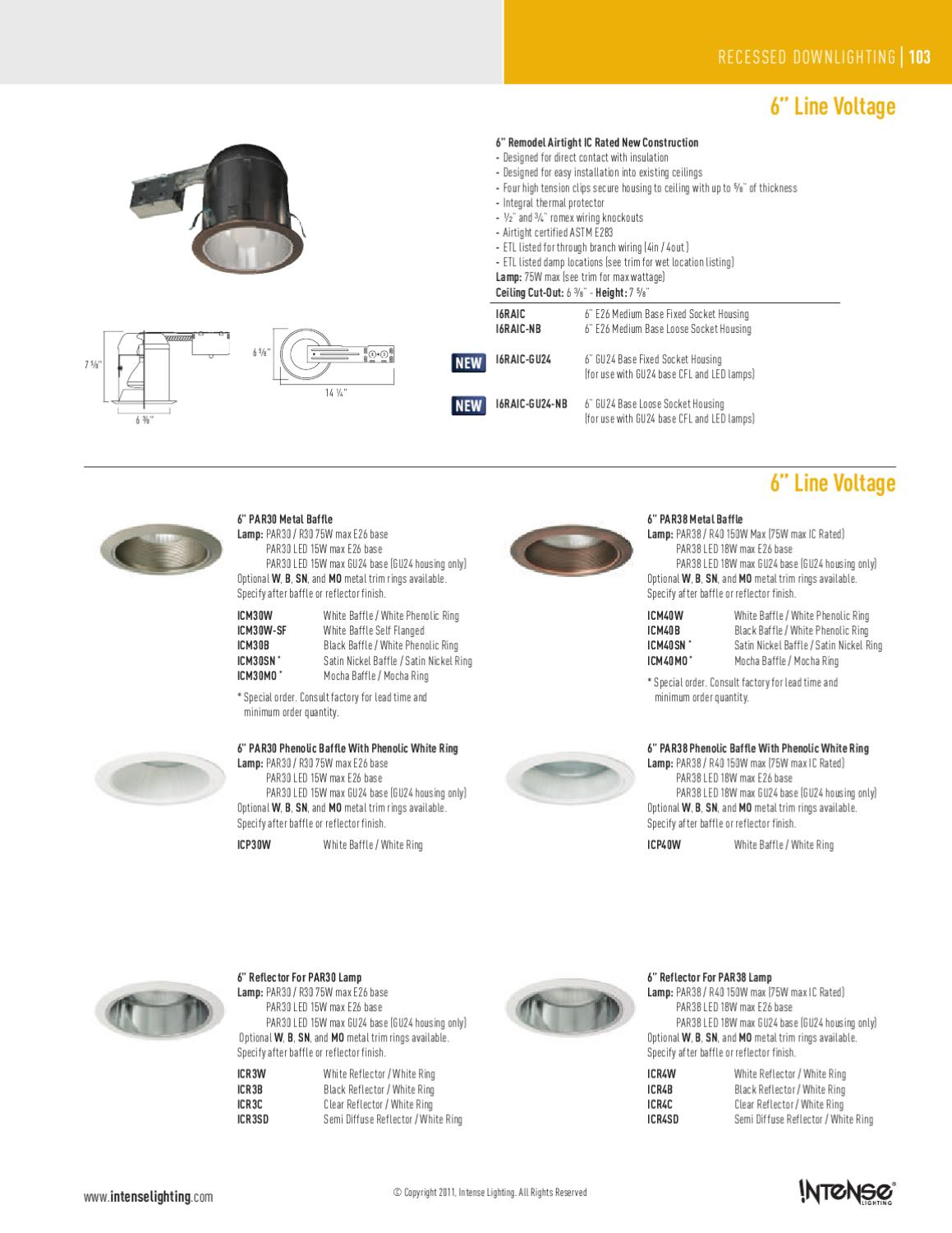 Intense Lighting Catalog By Alcon Issuu Wiring Socket Height
