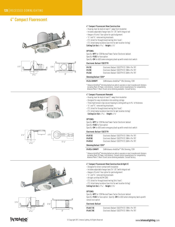 Intense Lighting Catalog By Alcon Issuu Wiring Up Fluorescent Ballast