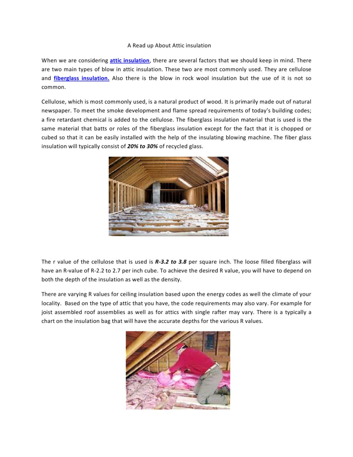 A Read Up About Attic Insulation by Daryl Quinnett - issuu