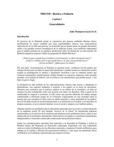 Precop Bioetica Y Pediatria By Sociedad Colombiana De Pediatria Regional Bogota Issuu
