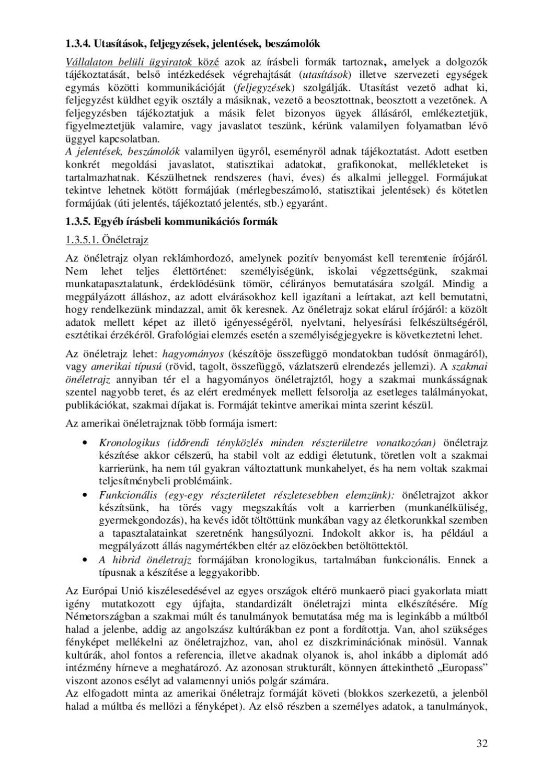 önéletrajz hagyományos Szikora Henrikné: Üzleti kommunikáció by Edutus Főiskola   issuu önéletrajz hagyományos