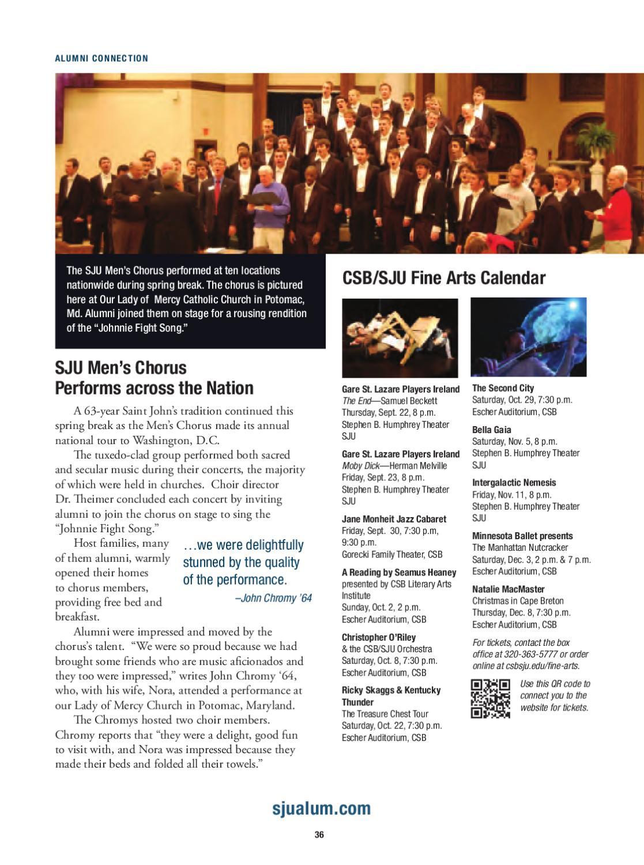 Sju Calendar.Saint John S Magazine Summer Fall 2011
