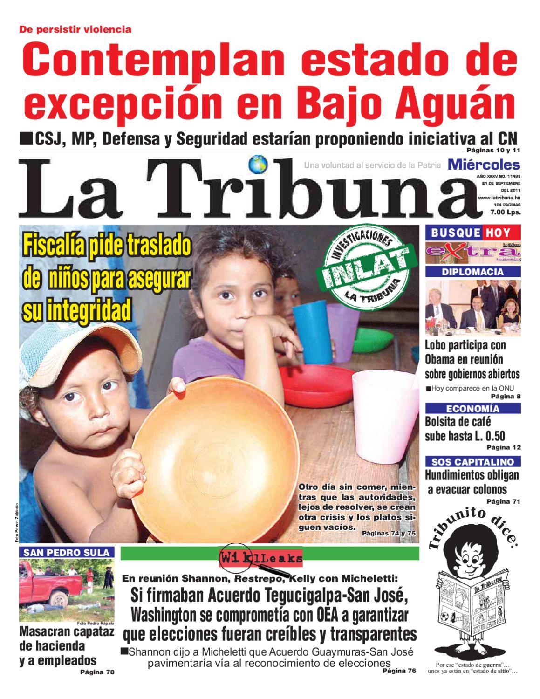 La Tribuna Honduras 21 09 2011 by Pedrito Juaz Juaz - issuu 6d6b3b8129650