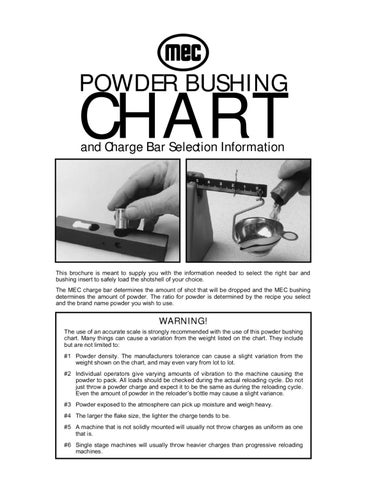 Mec powder bushing chart by graf & sons, inc issuu.