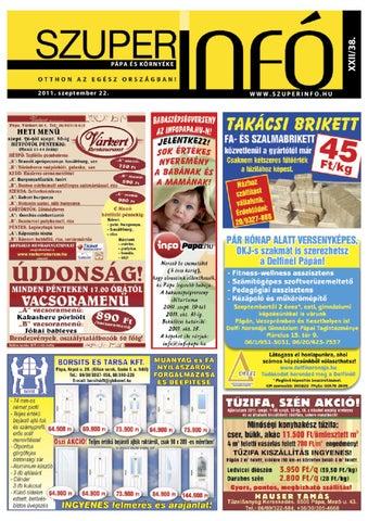 Pápa és Környéke Szuperinfó 2011 38 by Szalóky Zsolt - issuu 3eb5f82b16