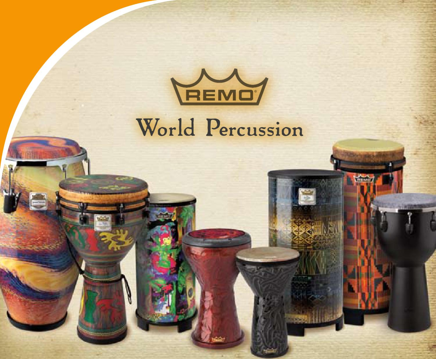10 x 20 SUEDE/® Drumhead REMO Djembe Advent Djembe Key-Tuned Black
