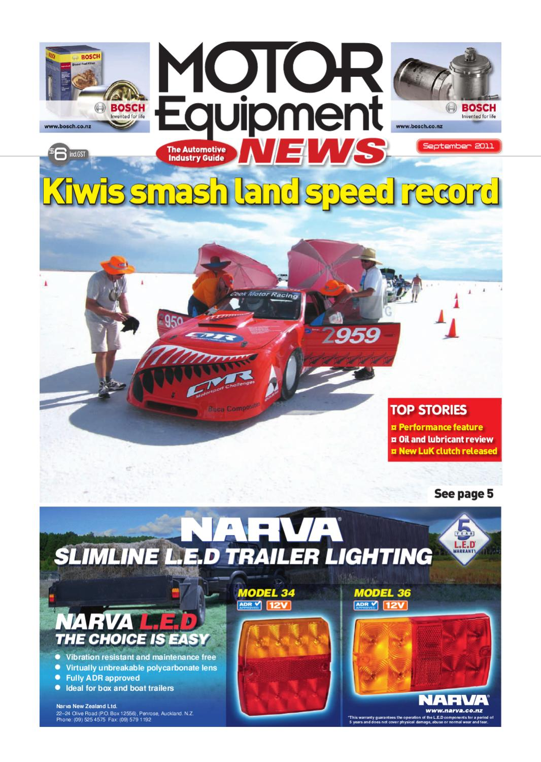 Motor Equipment News September 2011 by Adrenalin Publishing