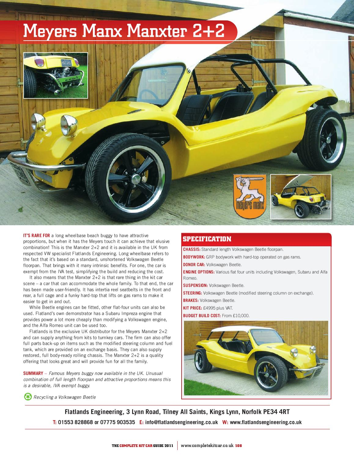 Complete Kit Car Guide 2011 by Performance Publishing Ltd