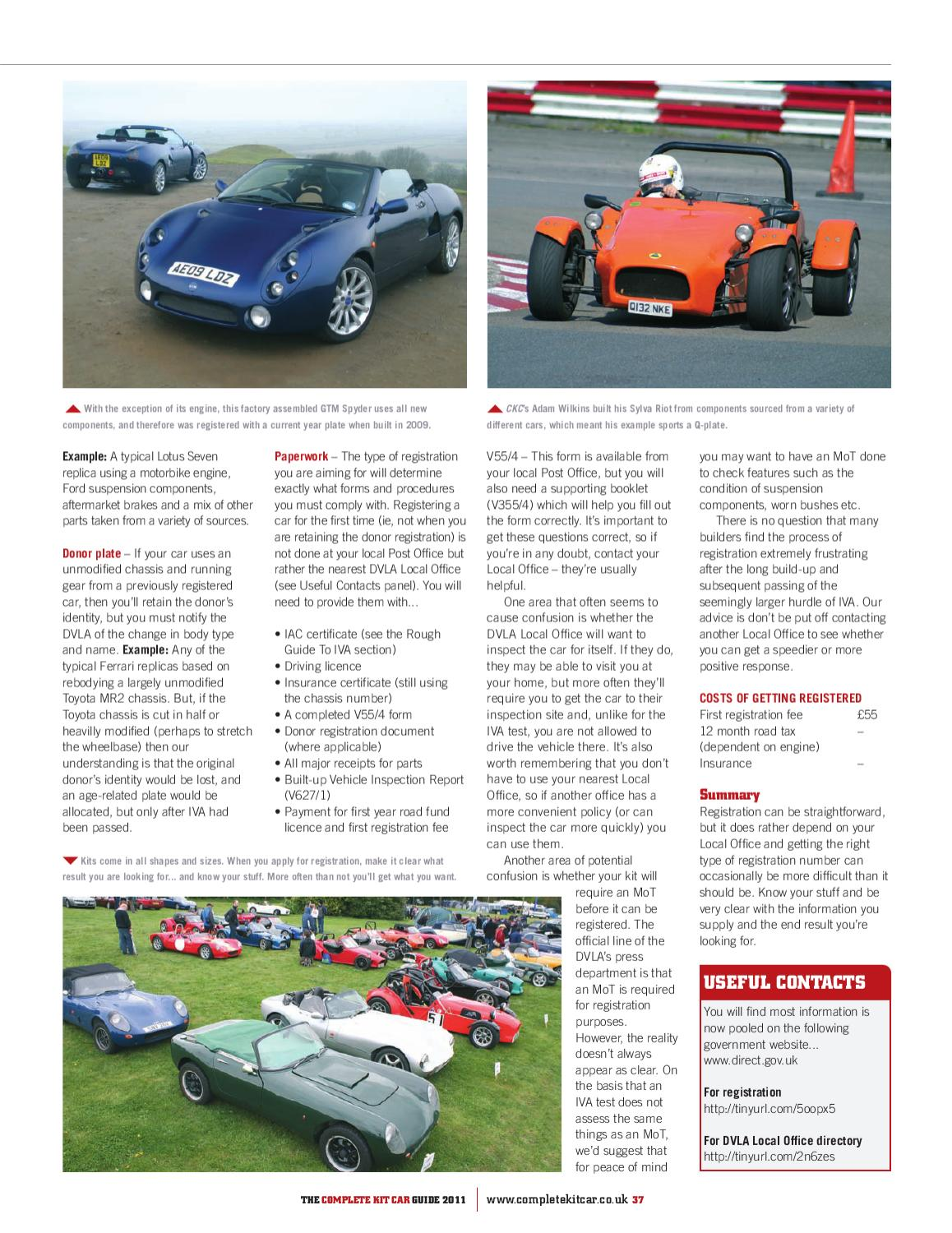 Complete Kit Car Guide 2011 by Performance Publishing Ltd - issuu