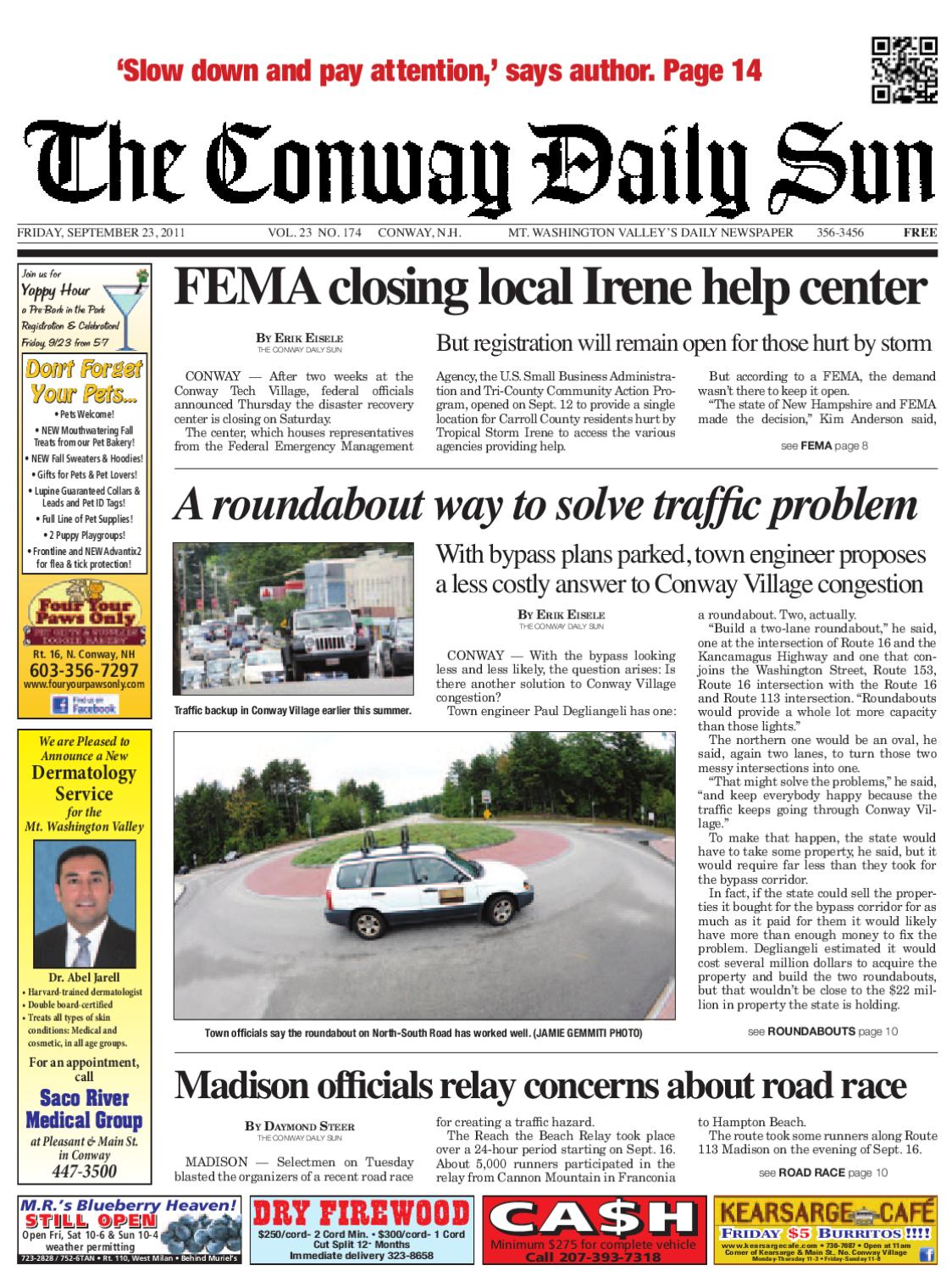 The Conway Daily Sun, Friday, September 23, 2011 by Daily