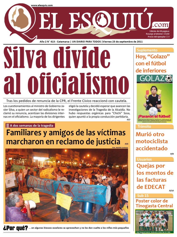 Jueves 23 de setiembre El Esquiu by Editorial El Esquiú - issuu