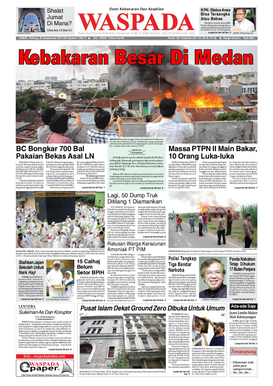 Waspada Jumat 23 September 2011 By Harian Issuu Produk Ukm Bumn Bunge Tanjung Betabur