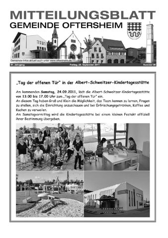 2011 38 Mitteilungsblatt Gemeinde Oftersheim By Gemeinde