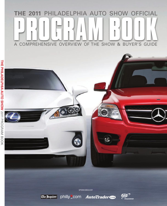 2011 Program Book By Philadelphia Auto Show Issuu