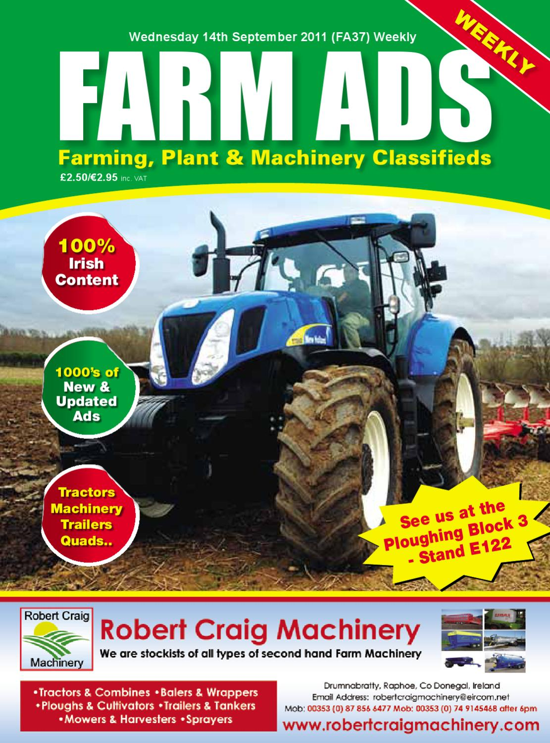 Farm Ads by Farm Ads - issuu New Holland Tractor Tl Alternator Wiring Diagram on