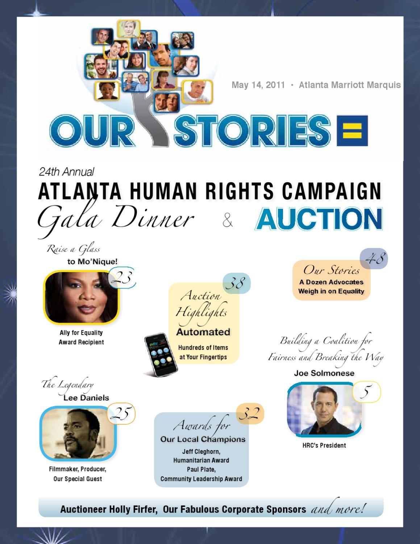 2011 Atlanta Human Rights Campaign (HRC) Gala Dinner & Auction ...