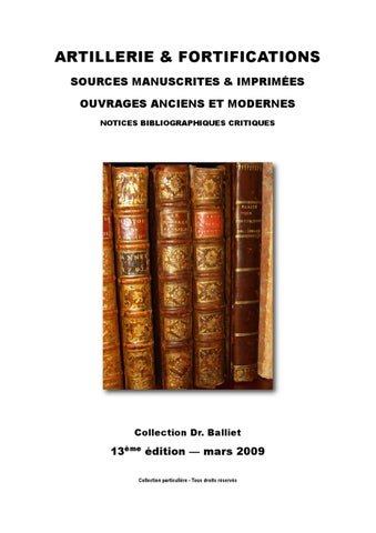 Artillerie Fortifications Bibliographie Bibliophilie By Jean