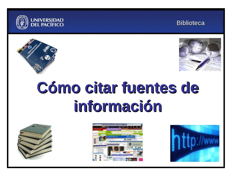 Fuentes de informaci