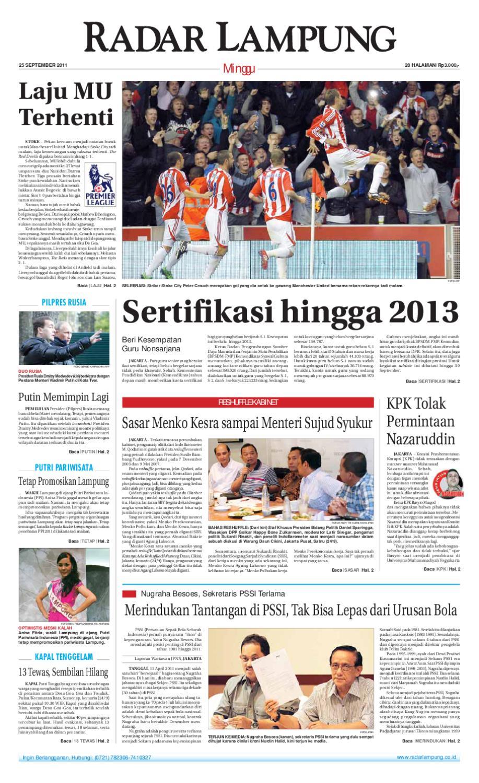 Radar Lampung Minggu 25 September 2011 By Ayep Kancee Issuu Produk Ukm Bumn Frozen Tahu Baxo