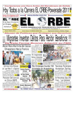 28e08d832bfc Hoy Todos a la Carrera EL ORBE-Powerade 2011 Domingo 25 de Septiembre de  2011