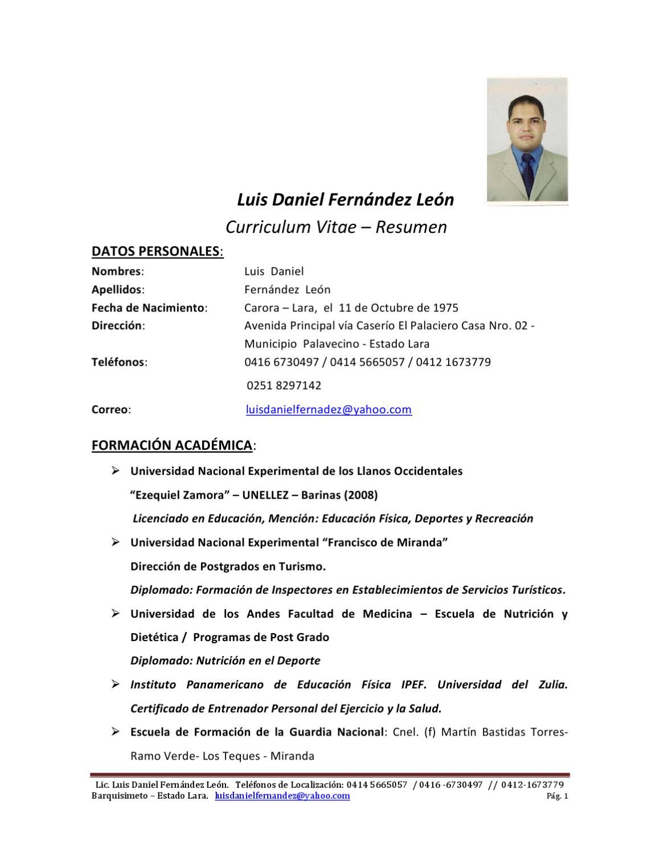 Curriculum Vitae by Luis Fernandez - issuu