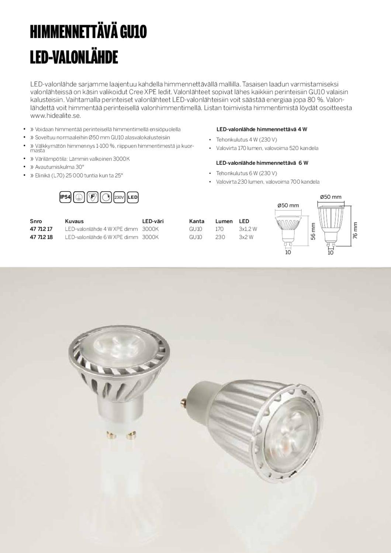 Otsalampputesti: Valoteho ei kerro koko tarinaa