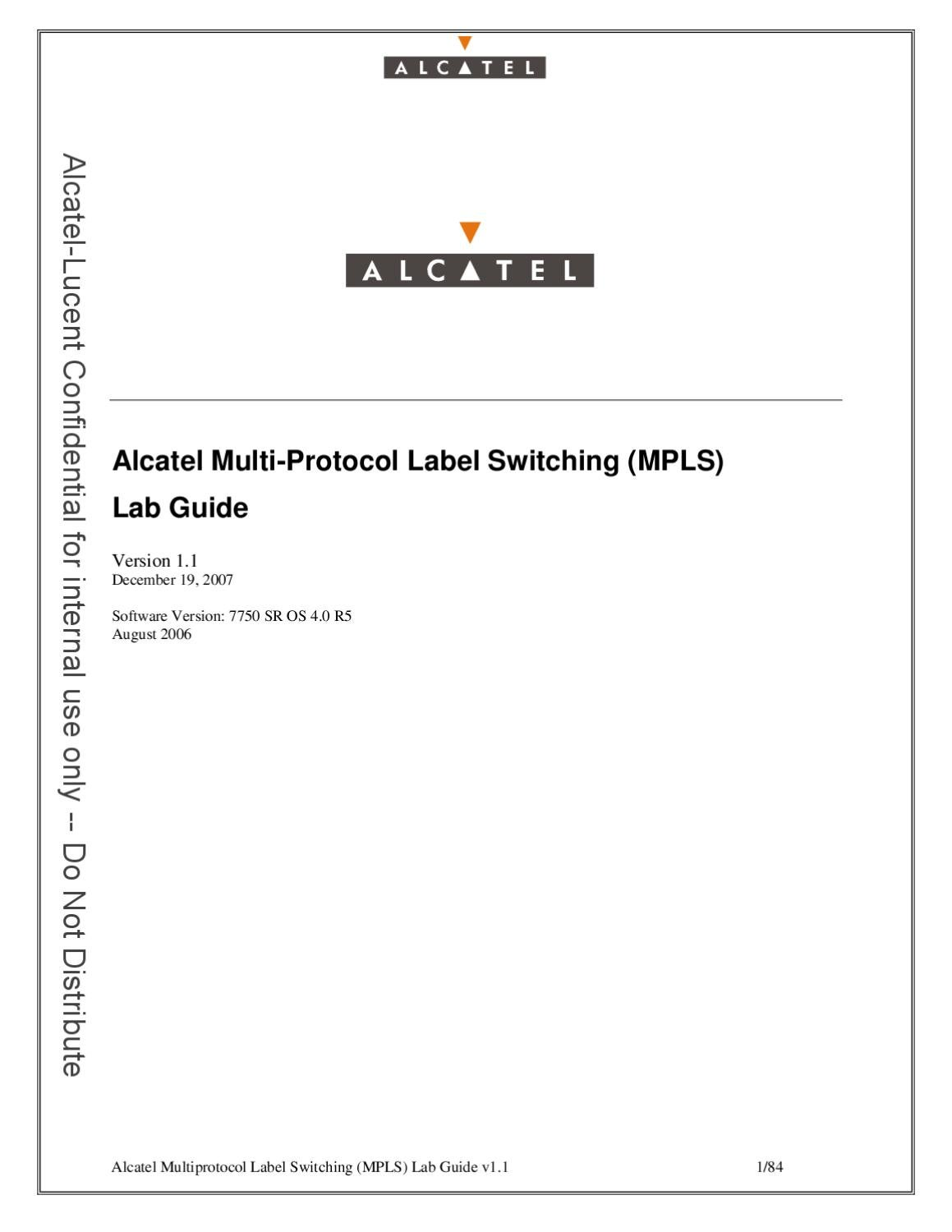 Alcatel-Lucent MPLS Lab Guide by Zurgani Alaa - issuu