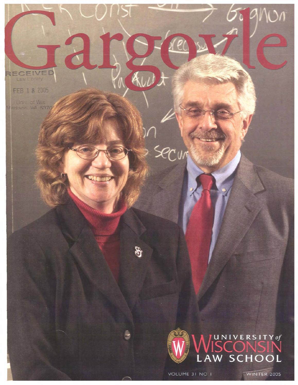 University of Wisconsin Law School Gargoyle Alumni Magazine