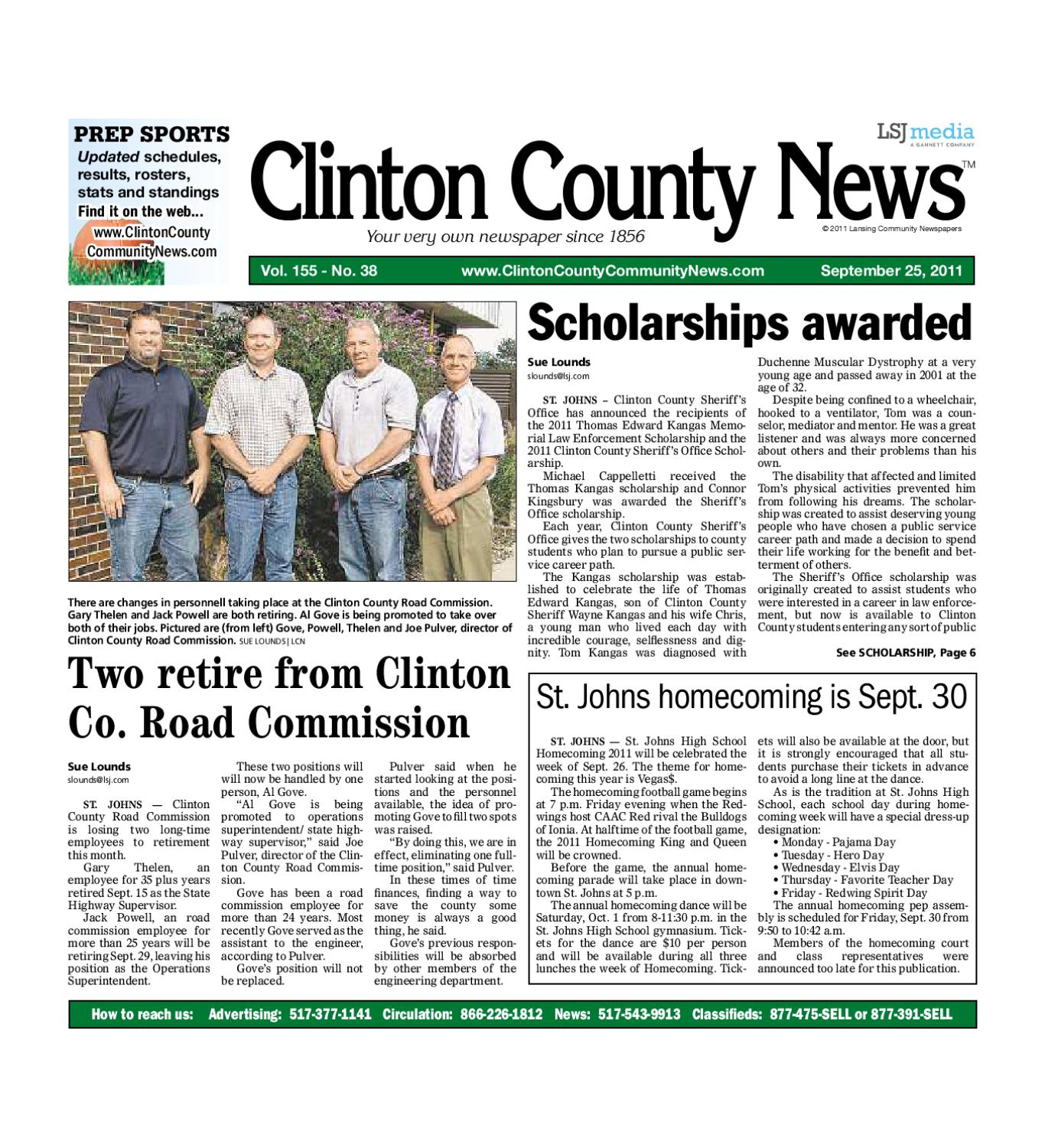 Michigan clinton county elsie -  Ccn_09_25_11 By Lansing State Journal Issuu