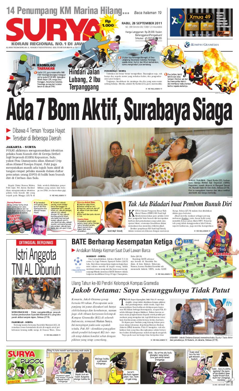 Surya Edisi 28 September 2011 By Harian Issuu Rejeki Anak Soleh 3 Voucher Carrefour Rp 200000